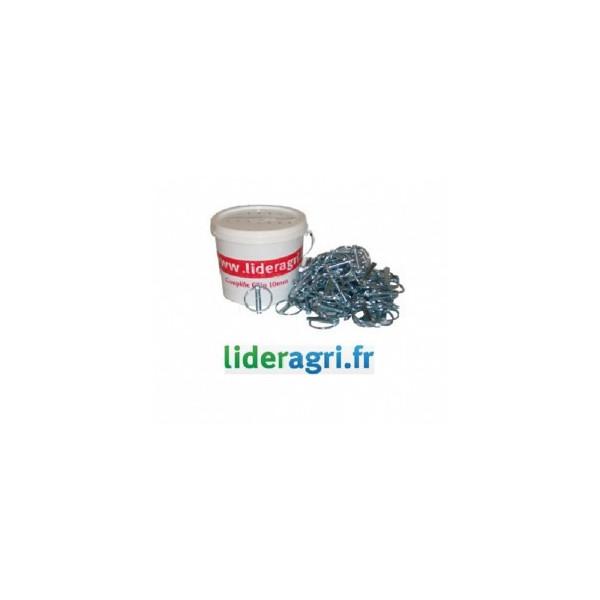 Pièces tracteur et micro tracteur - Seau de 100 goupilles clips - Lideragri