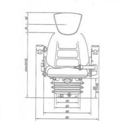 Siège tracteur velours gris confort