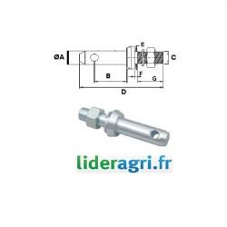 Pièces tracteur et micro tracteur - Piton d'attelage - Lideragri