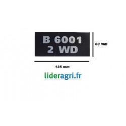 Autocollant B6001