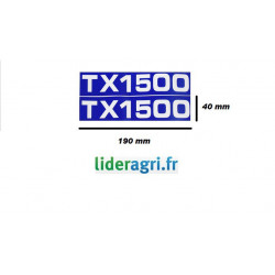 Autocollant TX 1500